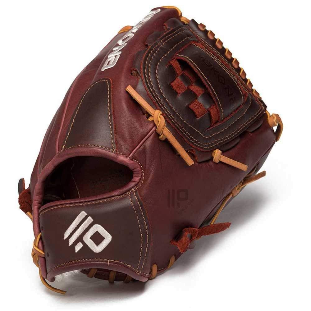 nokona-bloodline-pro-series-baseball-glove-p1-right-hand-throw P-1C-RightHandThrow  808808890690 Closed Web. Open Back. 12 Infield/Pitcher Pattern Kangaroo Leather Shell -