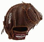 33.50 Inch Catchers Mitt, Closed Web, Conventional Open Back Index Finger Pad For Added Protection. Deep Pocket Walnut Crunch Leather Construction Provides Stability, Flexibility, & Durability Individually Cut, Stamped, Stitched, Laced, & Embroidered Nokona Walnut is handcrafted in the US and made specifically for adult or elite players.