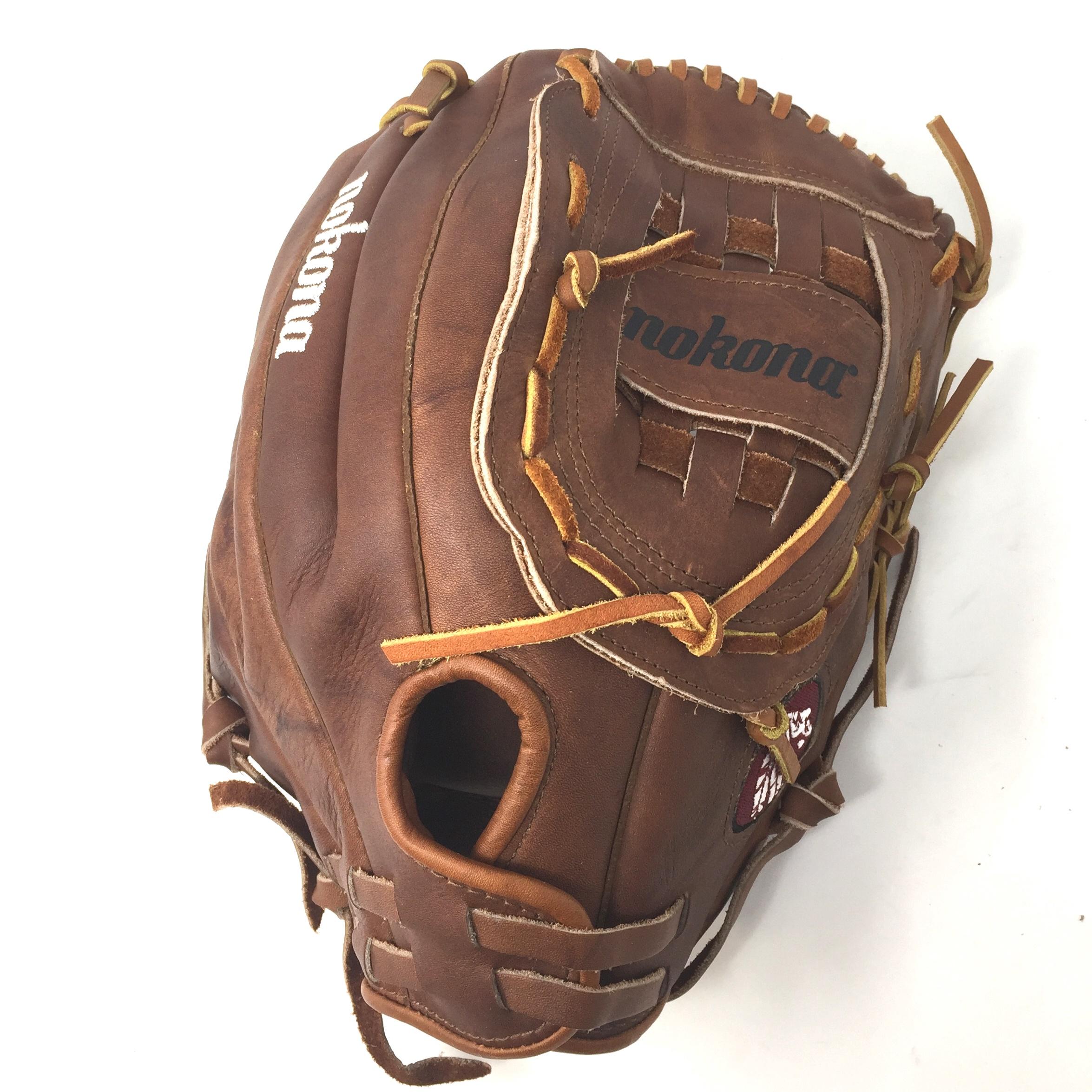 nokona-classic-walnut-13-softball-glove-right-handed-throw-size-13 WS-1300C-RightHandedThrow Nokona 808808889663 Nokona Classic Walnut 13 Softball Glove Right Handed Throw Size 13