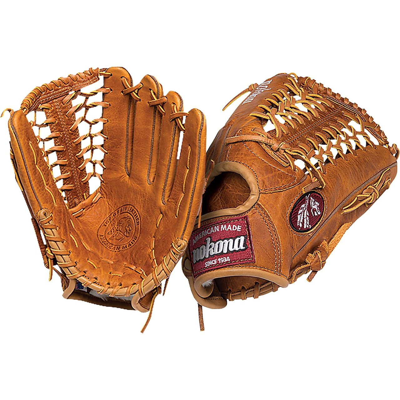 Nokona Generaton Series 12.75 inch Outfield Baseball Glove. Modified Trap Web. Generation Steerhide has a traditional saddle tannage – a throwback leather with a rich color, and a natural, supple feel. Generation Steerhide has a medium weight, and creates good structure and fit. 12.75 inch outfield pattern. Modified Trap Web And Open Back. Generation Leather Scheme Steerhide. Genuine Shearling Cuff. Weight 650g. Handmade in the USA. One year warranty. G1275M. Inspired by Nokona's heritage of handcrafting ball gloves in America for the past 80 years, the Generation series has a beautiful, classic look, and is a high performance glove. Made with Nokona's proprietary Generation Steerhide leather, this glove is a showpiece on and off the field, and represents baseball gear at its finest. The Generation series takes you back to your roots, and harkens back to Nokona's roots as a company, with the introduction of their original G Series in 1934. Inspired by this classic series, the Generation is a glove to be enjoyed for generations, as its look and fit will be enhanced as you use it and make it your own. For any player who loves the game, the Generation series has a comfortable, supple feel and is easy to break in.