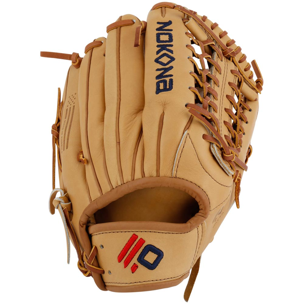 nokona-legend-pro-l-1275m-baseball-glove-12-75-right-handed-throw L-1275M-Right Handed Throw Nokona 808808890850 Made in America with the finest top grain steerhide. Baseball Outfield