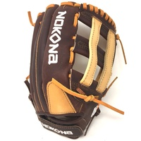 pPremium Buffalo and Steerhide Leather Nokona s Alpha Series Lightweight and Durable Near game-ready break in time Right Hand throw only/p