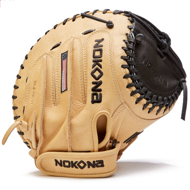 nokona-skn-fast-pitch-softball-catchers-mitt-32-5-right-hand-throw SKN-V3250C-RightHandThrow  808808893769 The SKN series has been updated with new leather placement for