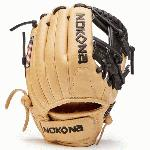 The SKN series has been updated with new leather placement for a fresh look, and for increased durability and structure. This glove is made with a combination of Nokona proprietary American Bison and Japanese Calf SKN creating a light-weight and structured glove for use by professional college and elite players at all levels of the game. Position Infield Adult 11.5 Pattern I-Web Velcro Back American Bison & Japanese Calf SKN Handcrafted with Pride in the USA.