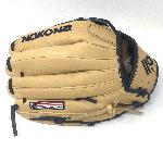 p12.75 Outfield Pattern H-Web Palm Leather American Bison, Back Leather Japanese CalfSKN Conventional Open Back Minimal Break-In Needed./p