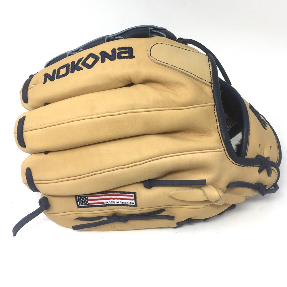 nokona-skn-series-navy-baseball-glove-13-inch-right-hand-throw SKN-9-NV-RightHandThrow Nokona 808808892540 Introducing the Nokona SKN series a unique combination of Nokonas proprietary