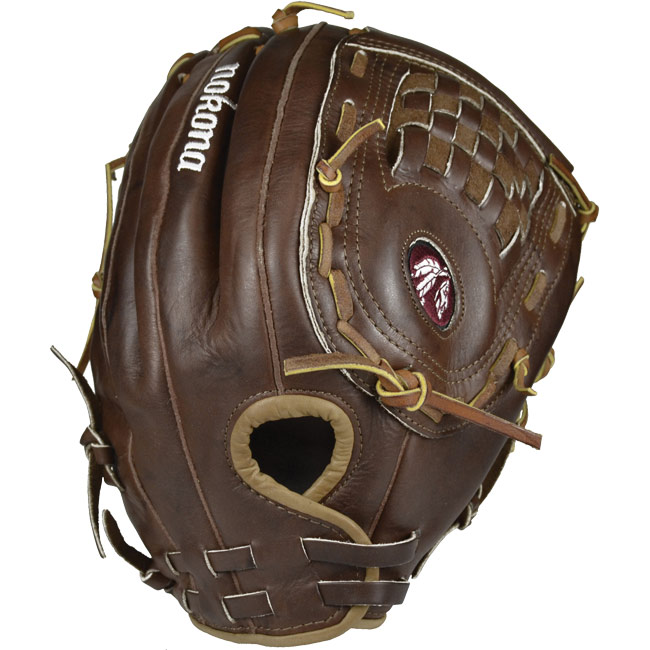 nokona-walnut-13-5-inch-softball-glove-ws-1350c WS-1350C-Right Hand Throw Nokona 808808104902 Since 1934 Nokona has been producing ball gloves for America s