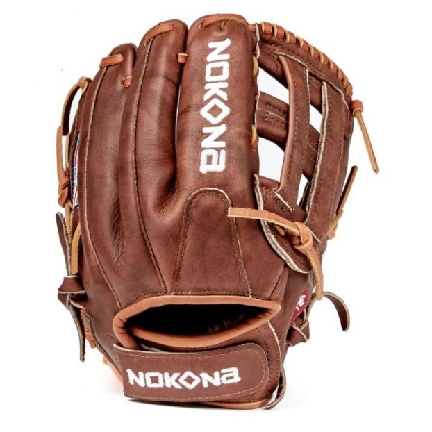nokona-walnut-classic-w-v1200h-softball-glove-right-hand-throw W-V1200H-RightHandThrow Nokona 808808891628 Inspired by Nokonas history of handcrafting ball gloves in America for