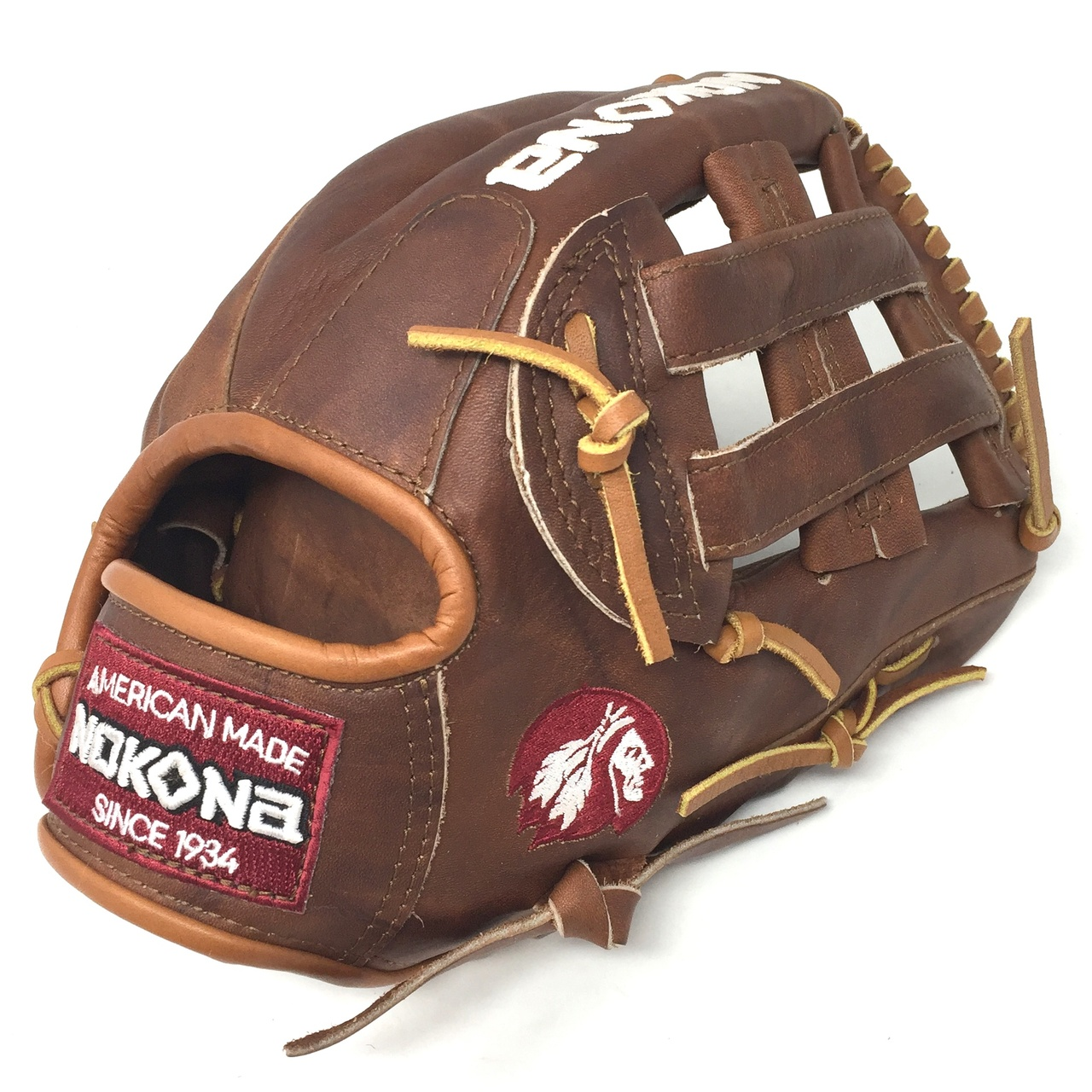 nokona-walnut-h-web-11-75-inch-w-1175-baseball-glove-right-hand-throw W-1175H-RightHandThrow  808808891680 <span>Inspired by Nokona's history of handcrafting ball gloves in America for