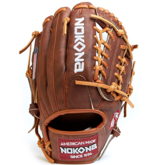 nokona-walnut-modified-trap-11-25-baseball-glove-right-hand-throw W-200M-RightHandThrow Nokona 808808894902 11.25 Inch Pattern Classic American Workmanship Colorway Brown Select Fit -