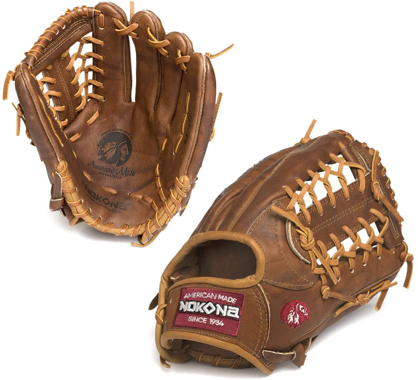 Inspired by Nokona's history of handcrafting ball gloves in America for over 80 years, the proprietary Walnut Crunch leather is a signature of Nokona. This glove provides great stability, durability, and a game-ready feel. This classic series has been updated with a new look that highlights the gloves' modern features, while paying tribute to Nokona's long-standing baseball and softball heritage. - 12.75 Inch Model - Modified Trap Web - Open Back - Walnut Crunch Steerhide Leather - Weight: ~680g - Made in the USA - Manufacturer's Warranty