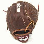 Nokona Classic Walnut Youth Baseball Glove. 10.5 inch with closed basket web. Open Back. Red old school wrist patch. Finger Pad. American Flag. Make in Nokona, TX.
