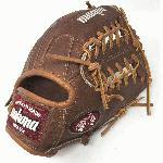 Nokona Walnut WB-1150M Baseball Glove 11.5 Modified Trap Right Handed Throw Walnut HHH Leather which provides greater stiffness and stability. 11.50 Inch Pattern with Modified Trap and Open Back. Leather Walnut Crunch Steerhide. Weight 675g. Average Break-In. Nokona has built its reputation on its legendary Walnut Leather. Now made with our proprietary Walnut HHH Leather™ which provides greater stiffness and stability. Once this glove is worked in, this glove is soft and supple, yet remains sturdy - a true, classic Nokona.