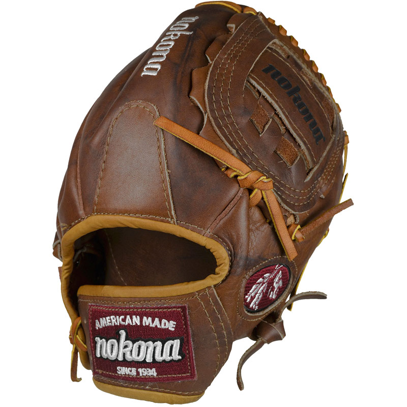 Nokona Walnut WB-1200C 12 Baseball Glove  Right Handed Throw Nokona has built its reputaion on its legendary Walnut Leather. Now made with our proprietary Walnut HHH Leather which provides greater stiffness and stability. Once this gloves is worked in, this glove is soft and supple, yet remains sturdy. a true, classic Nokona.
