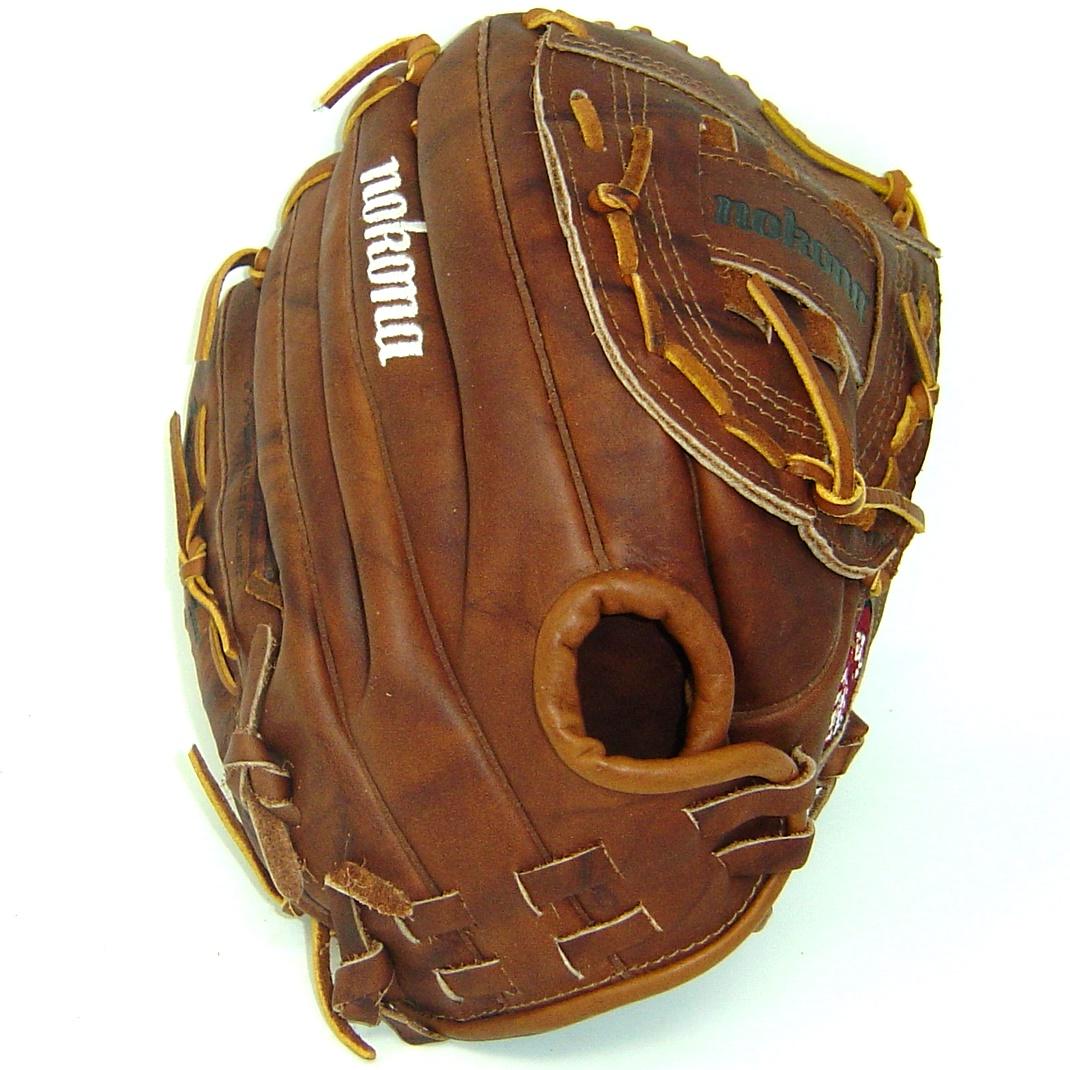 nokona-walnut-ws-1200c-softball-glove-amg175-12-right-hand-throw WS-1200C-Right Hand Throw Nokona 808808101109 Nokonas signature leather Walnut Crunch is used to craft this series