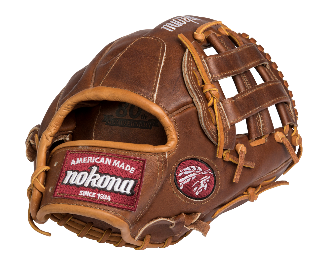 Nokona WB-1200H Walnut Baseball Glove 12 inch (Right Hand Throw) : Nokona has built its reputation on its legendary Walnut Leather. Now made with our proprietary Walnut HHH Leather which provides greater stiffness and stability. Once this glove is worked in, this glove is soft and supple, yet remains sturdy - a true, classic Nokona.