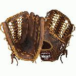 Nokona classic walnut leather baseball glove with modified trap web and open back. The Nokona WB-1275M Classic Walnut Baseball Glove Features 12.75 Inch Nokona Baseball Glove Pattern. 100 Percent Top of the Line Walnut Leather. Web: Modified Trap Web With Open Back. Glove Position Outfield. 1 Year Manufacturer's Warranty. Nokona has built its reputation on legendary Walnut Crunch Leather.  Soft and supple, yet sturdy and pliable, this baseball glove from Nokona is immediately ready for play.  Nokona Athletics has been designing and producing high quality hand made Nokona baseball gloves in Nocona, Texas since 1934.  When you choose a Nokona glove, you are choosing perfection and pride... Nokona Baseball and Softball Gloves are quite simply the finest gloves on the market.