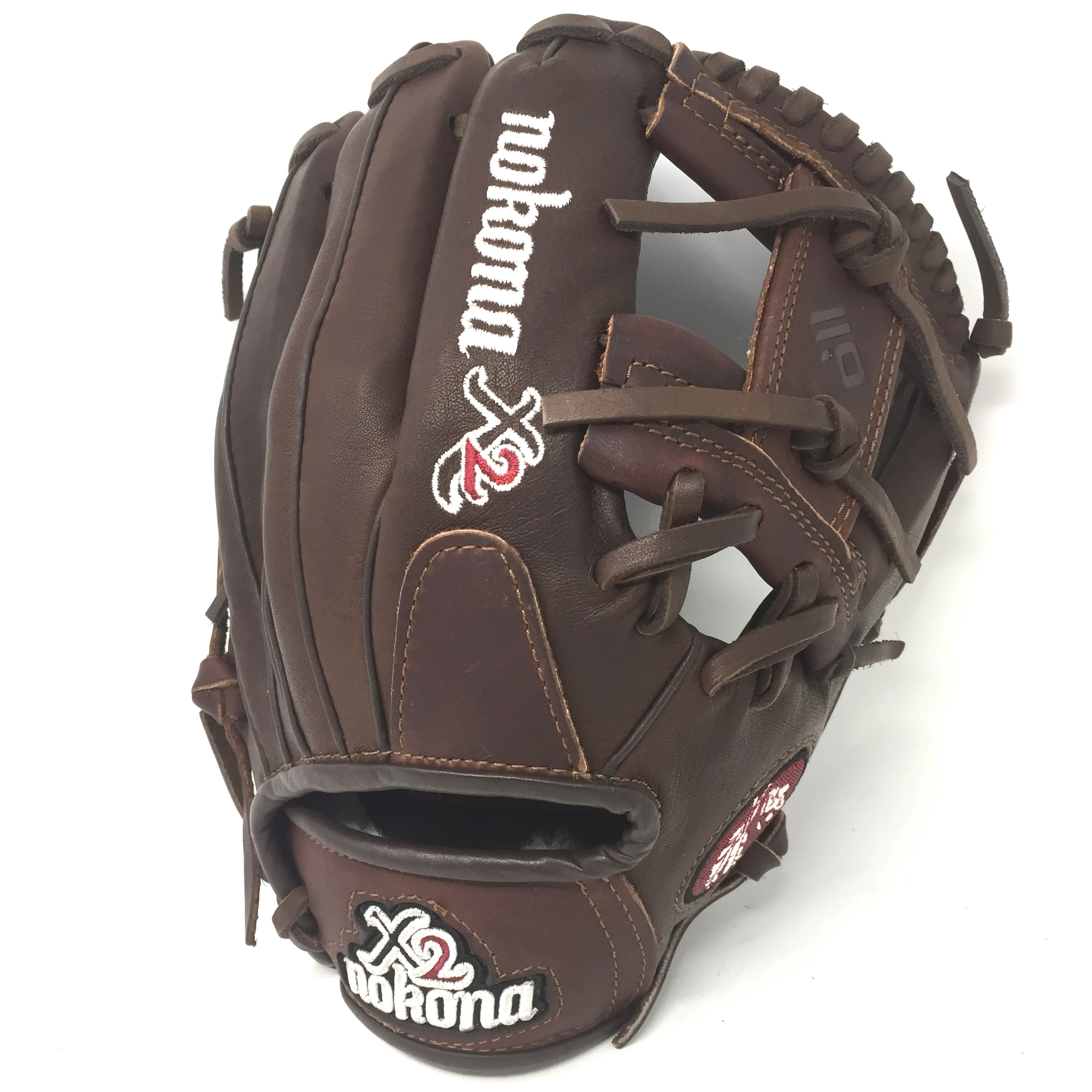 nokona-x2-elite-11-5-baseball-glove-i-web-right-hand-throw X2-1150I-RightHandThrow Nokona 808808891420 <p>11.5 Pitcher/Infield Pattern I-Web Stampede + Kangaroo Leather Conventional Open Back