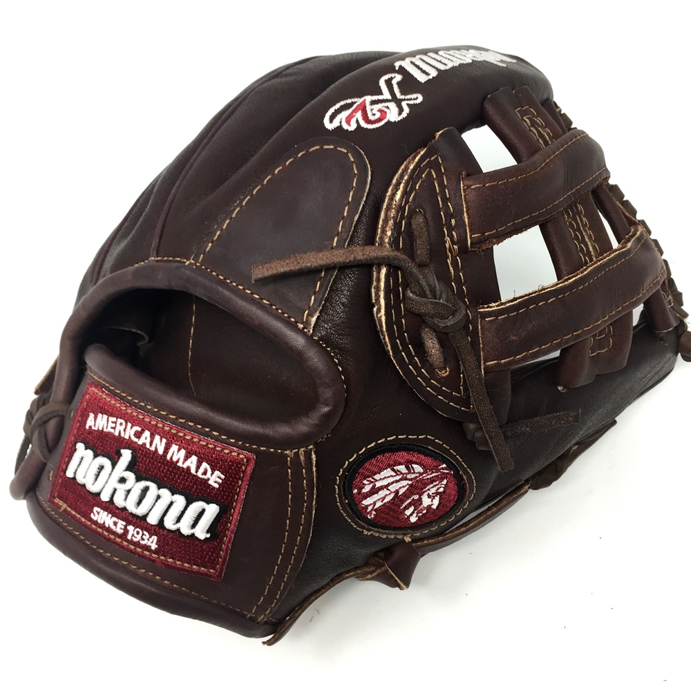 nokona-x2-elite-series-11-75-inch-baseball-glove-right-handed-throw X2-1175H-INDIAN-RightHandThrow Nokona 808808888703 Nokona X2 Elite Series 11.75 inch Baseball Glove Right Handed Throw