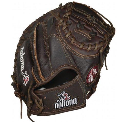 nokona-x2-elite-series-32-baseball-catchers-mitt-right-handed-throw X2-3200C-Right Handed Throw Nokona 808808888802 Nokona X2 Elite Series 32 Baseball Catchers Mitt Right Handed Throw
