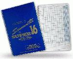 Peterson's Super 16 Baseball Scorebook and Softball Score Book : The Petersons Scoremaster -Super 16- Score Book is a 9 x 12-inch hardback baseball and softball scorebook. It provides scoring capabilities for up to 25 games (when recording both teams), 16 batting positions per team and a substitution slot for each of the 16 batting positions. Each page is equipped with pictorial scoring examples for easy to learn examples. The scorebook also features an area for prefigured batting averages. The Peterson's -Super 16- simplified scorebook also features lineup cards, average chart, team schedule, instructions, season summary, and a team roster. Coaches and parents alike can use the Scoremaster as a reference of stat sheets to accumulate game by game records on each player. There are 4 pages in the back of the scoring book, each page has 12 perforated tear-out line-up sheets to hang in the dugout. Overall, the Petersons Scoremaster Score Book is more than perfect for any baseball or softball team, especially Travel Teams.