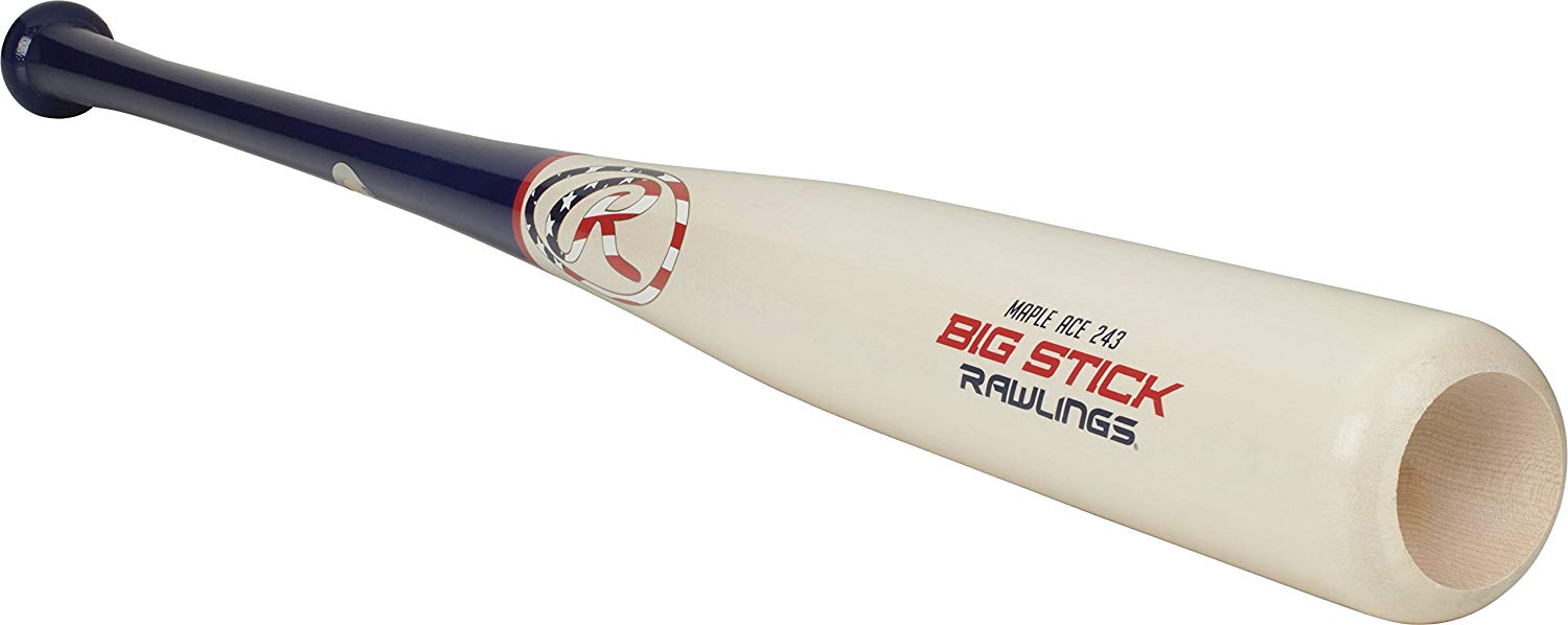 rawlings-big-stick-243-maple-ace-wood-bat-33-inch R243MA-33 Rawlings 083321530401 100% Other Fibers Large big stick barrel size classified as anything