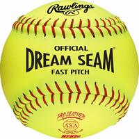 IDEAL FOR ASA AND HIGH SCHOOL LEVEL FASTPITCH SOFTBALL PLAYERS, these balls provide durability and consitent performance, making them the standard to softballs and this level of play MADE OF HIGH DENSITY CORK AND RAWLINGS' PATENTED DREAM SEAM TECHNOLOGY, these softballs offer the performance you demand while giving a lower cost option in game balls EASY TO GRIP AND THROW due to leather cover with raised seams, allowing pitchers to get even more movement on their pitches BOX OF 12 C12RYLAH COMPETITION GRADE SOFTBALLS, APPROVED FOR USE IN ASA SOFTBALL LEAGUES Size: 12 inch , .47 COR, 375 mph compression, yellow cover, 88 red stitch, high density cork core.