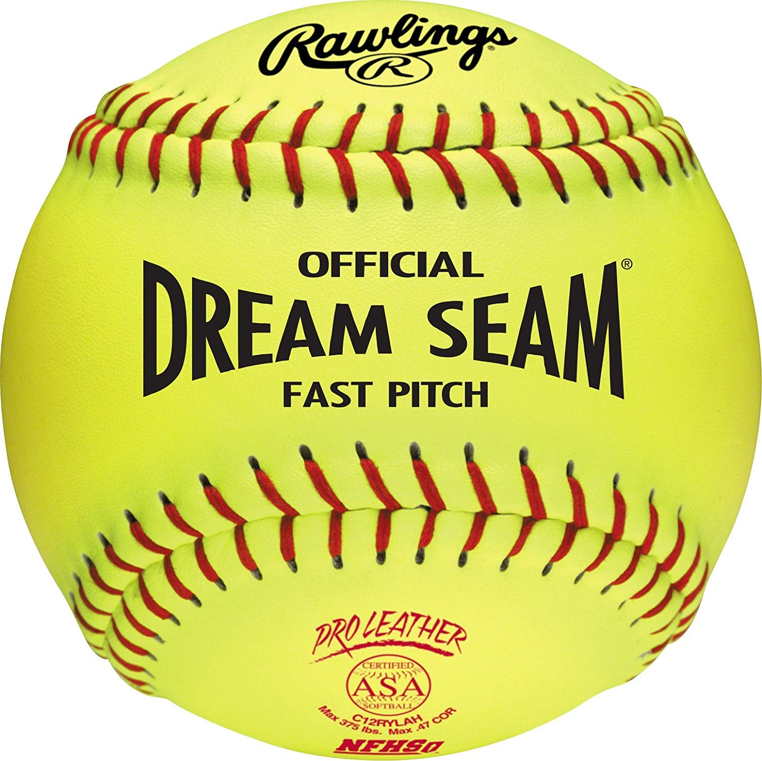 rawlings-c12rylah-12-inch-official-asa-dream-seam-fast-pitch-softballs-1-dozen C12RYLAH-DOZ Rawlings 083321439766 IDEAL FOR ASA AND HIGH SCHOOL LEVEL FASTPITCH SOFTBALL PLAYERS these