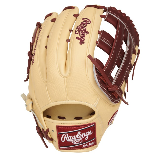 rawlings-color-sync-5-baseball-glove-12-75-outfield-pro-h-web-right-hand-throw PRO3319-6CSH-RightHandThrow Rawlings 083321748790 Add some color to your game with Rawlings new limited-edition Heart