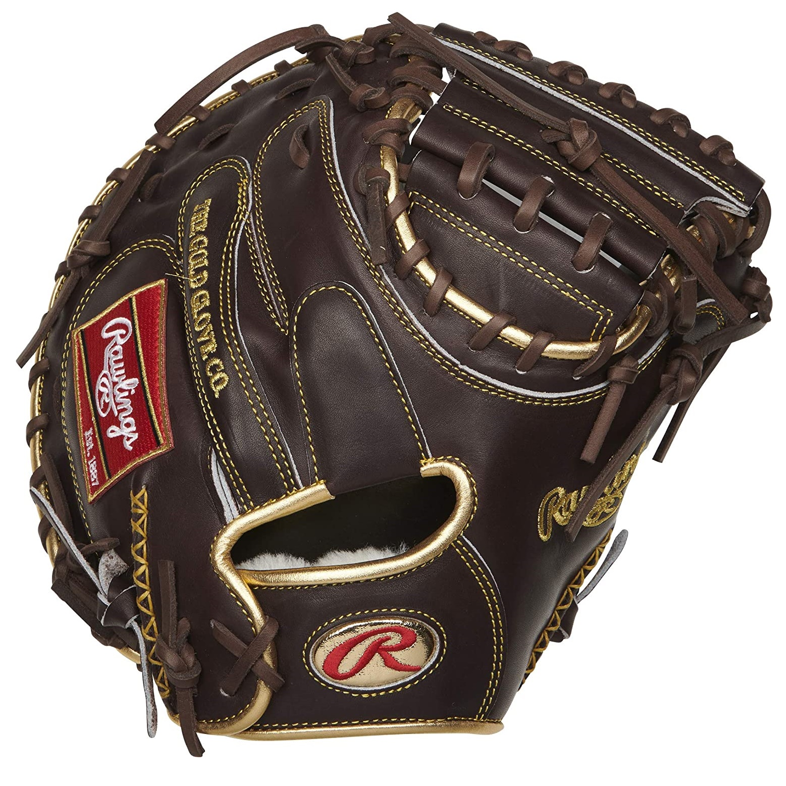 rawlings-gold-glove-series-catchers-mitt-1-piece-closed-web-34-inch-right-hand-throw RGGCM-43MO-RightHandThrow   The culmination of 130 years of Rawlings' glove-making craftsmanship the Rawlings