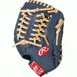 Rawlings GXLE175NC Navy Camel Gamer XLE Series 11.75 inch Baseball Glove (Right Handed Throw) : The GXLE175NC Gamer XLE series features PORON XRD impact absorption padding and an exclusive limited edition colorway. With Rawlings pro patterns, pro grade laces, and pro soft leather, this series is ideal for the player looking for a game-ready glove in the same pattern as their favorite pro player.