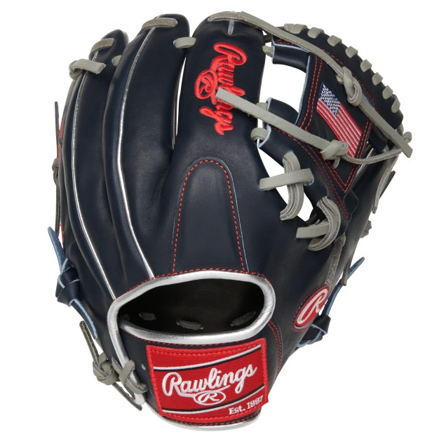 rawlings-heart-of-hide-11-5-usa-baseball-glove-right-hand-throw PRO204-2USA-RightHandThrow  083321667671 Limited Editing Olympic Country Flag Series. Constructed from Rawlings' world-renowned Heart