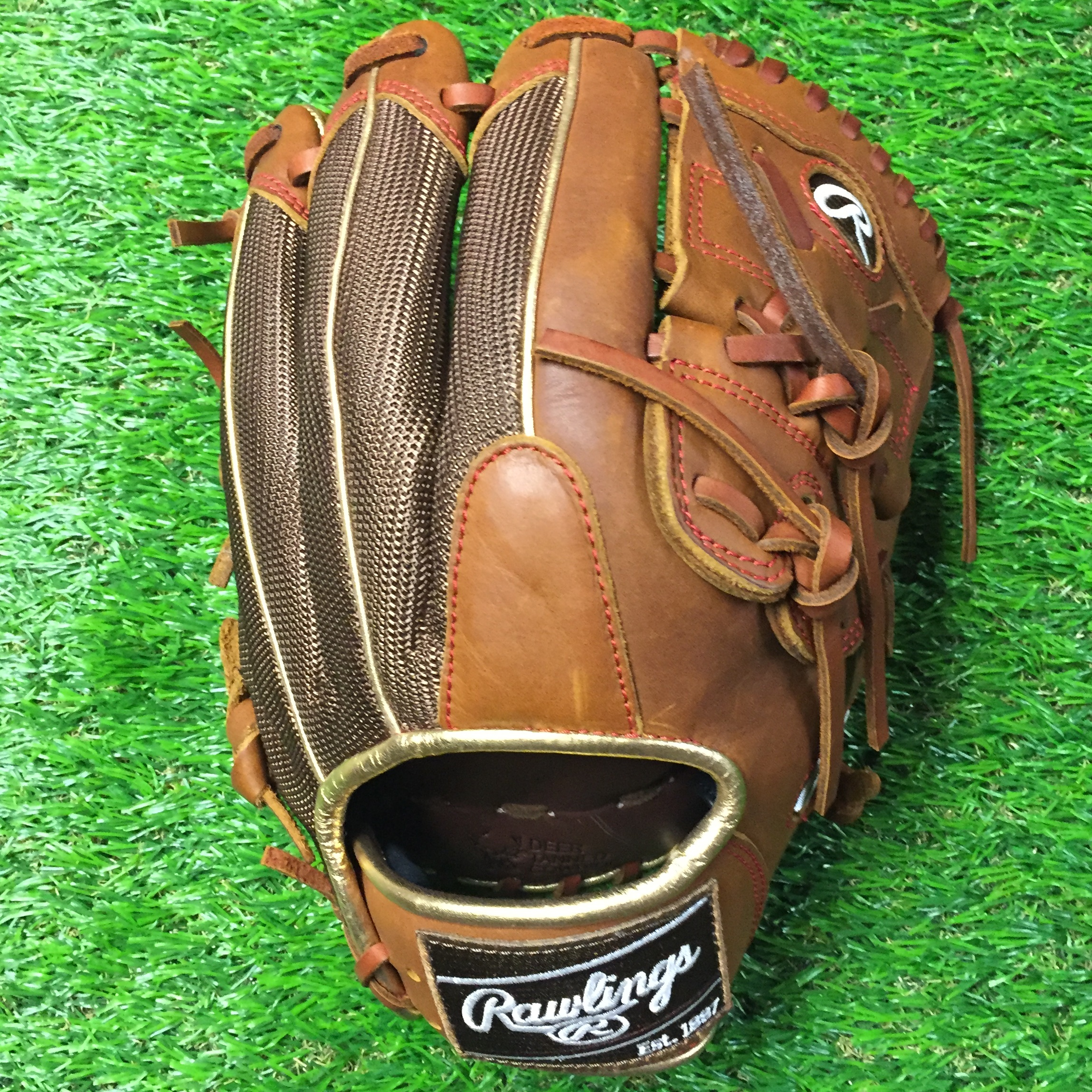 rawlings-heart-of-hide-11-75-pro205-9tim-baseball-glove-closeout-right-hand-throw RAWLINGS-0005 Rawlings  <p>Rawlings Heart of Hide PRO205-9TIM 11.75 inch Brown mesh back 2