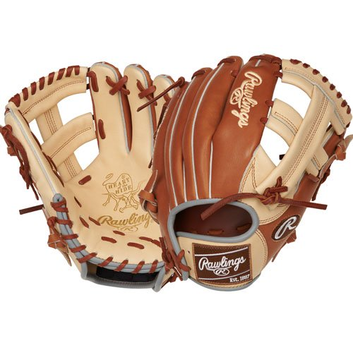 Take the field with this limited edition Heart of the Hide ColorSync 11.5-Inch infield glove and have a style all your own. The superior quality of our ultra-premium steer-hide leather and this classic design will help elevate your game every inning. Its popular TT2 pattern offers a wide, shallow pocket allowing for quick transfers up the middle. As a result, you'll improve your ball-to-hand transfers and turn two more often. In addition, the deer-tanned cowhide lining and thermoformed wrist pad provide optimal comfort so you stay comfortable in every situation. Finally, its ColorSync design brings a unique flash of brown with a classic feel for unmatched style on the field. The combination of a clean, classic look, mixed with the feel and performance of our Heart of the Hide gloves will make you more confident than ever. Put on this glove and know you've found your next gamer. Baseball Back: Conventional Player Break-In: 60 Fit: Standard Level: Adult Lining: Deer-Tanned Cowhide Padding: Moldable Pattern: Pro Position: Infield Series: Heart of the Hide ColorSync Shell: Steer Hide Leather Web: Single Post Size: 11.5 in