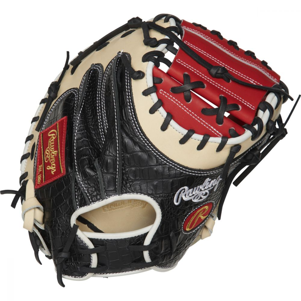 rawlings-heart-of-hide-color-sync-4-0-catchers-mitt-34-right-hand-throw PROYM4SCC-RightHandThrow  083321671838 The Heart of the Hide ColorSync 34-Inch catchers mitt provides an