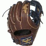 This Heart of the Hide baseball glove features a 31 pattern which means the hand opening has a more narrow fit and the heel is made with thinner padding which makes it easier to close. This pattern is designed to open wider offering a wider pocket when catching and scooping the ball, which makes for a great infielder pattern. With its 11 12 pattern, this glove features a flat, shallow pocket which allows fielders to get the ball out of the glove quickly. It works best for 2nd Base or Shortstop positions. These high quality gloves have defined the careers of those deemed The Finest in the Field®, and are now available to elite athletes looking to join the next class of defensive greats. Details Age: Adult Brand: Rawlings Map: Yes Sport: Baseball Type: Baseball Size: 11.5 in Hand: Right Back: Conventional Player Break-In: 70 Fit: Narrow Level: Adult Lining: Deer-Tanned Cowhide Padding: Moldable Pattern: Pro Position: Infield Series: Heart of the Hide Shell: Steer Hide Leather Type: Baseball Web: Pro I