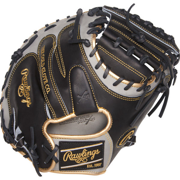 rawlings-heart-of-hide-procm33bgg-33-inc-catchers-mitt-right-hand-throw PROCM33BGG-RightHandThrow Rawlings 083321466212 Constructed from Rawlings' world-renowned Heart of the Hide® steer hide leather
