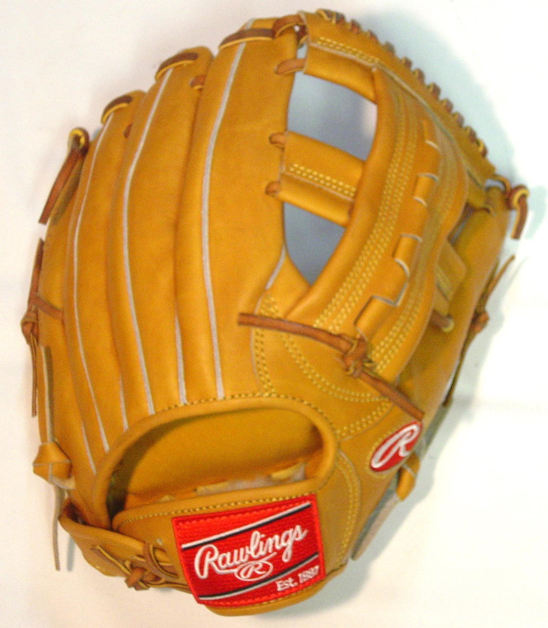 2018 Model Found Here Rawlings Ballgloves.com exclusive PRORV23 worn by many great third baseman including Robin Ventura. Made with Japanese tanned Heart of Hide leather. Stiff with break in needed. 12.25 inch pattern and Single Post I Web makes this glove a excellent third base mitt. Deer tanned cowhide inside lining and no palm pad. Made in the Phillipines. This Rawlings baseball glove is a pro model with pro performance. World renowed Heart of the Hide leather for unmatched durability. Crafted from authentic Rawlings Pro patterns. Produced by the world finest Rawlings glove technicians. Soft full grain leather palm and finger back lining provide exemplary comfort. USA tanned leather lacing for durability. Single Post Open Web and Open Back.