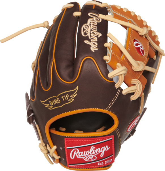 "Constructed from Rawlings' world-renowned Heart of the Hide steer hide leather, Heart of the Hide gloves feature the game-day patterns of the top Rawlings Advisory Staff players. These high quality gloves have defined the careers of those deemed ""The Finest in the Field,"" and are now available to elite athletes looking to join the next class of defensive greats. Details Age: Adult Brand: Rawlings Map: Yes Sport: Baseball Type: Baseball Size: 11.5 in Hand: Right Back: Conventional Player Break-In: 70 Fit: Standard Level: Adult Lining: Deer-Tanned Cowhide Padding: Moldable Pattern: Pro Position: Infield Series: Heart of the Hide Shell: Steer Hide Leather Type: Baseball Web: Pro I"