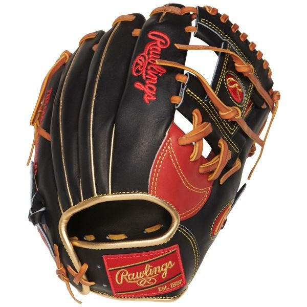 rawlings-heart-of-the-hide-11-5-in-infield-glove-pronp4-2sbg-right-hand-throw PRONP4-2SBG-RightHandThrow Rawlings 083321523304 Constructed from Rawlings' world-renowned Heart of the Hide® steer hide leather