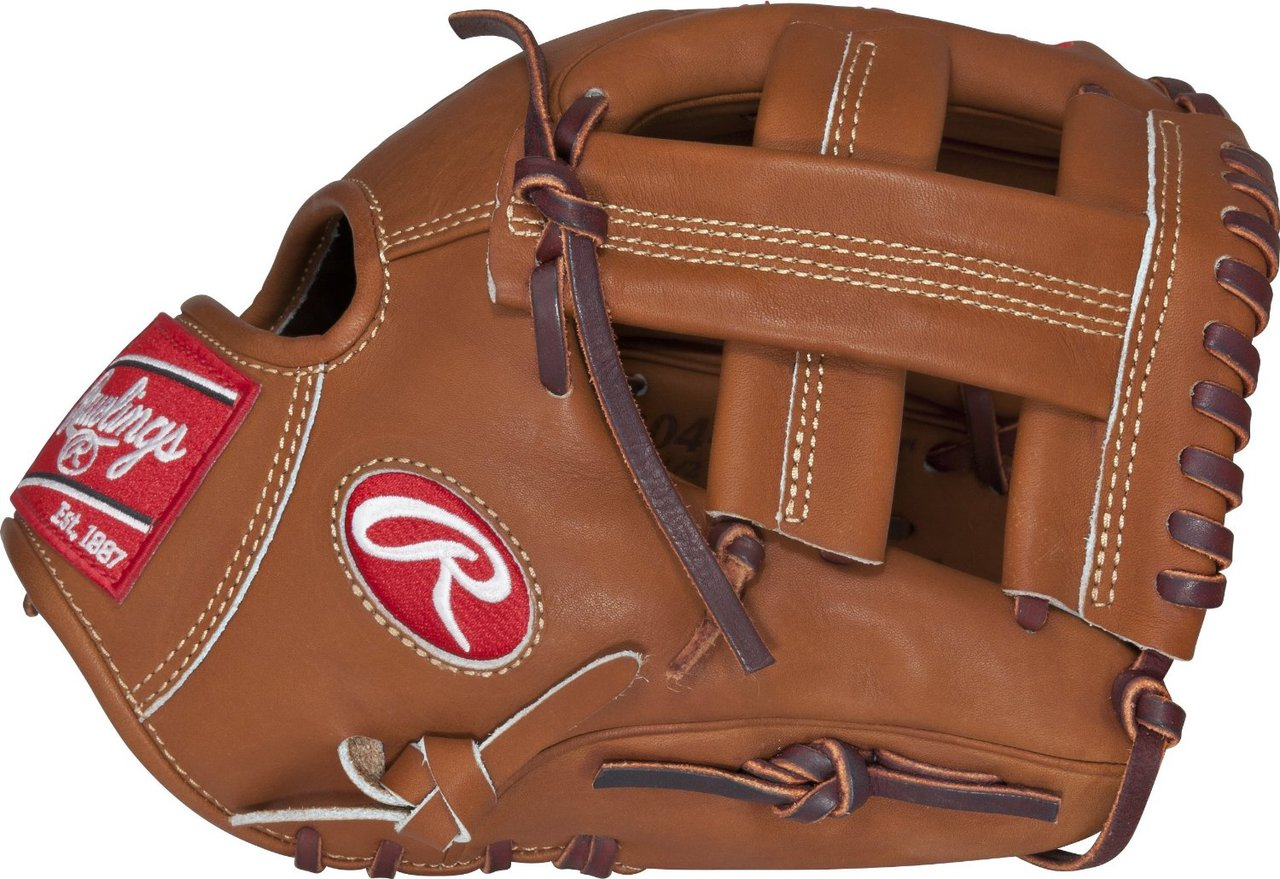 11.50 Inch Pattern Break-In 60 Player 40 Factory Colorway Brown Red Conventional Open Back Deertanned Cowhide Plus Palm Lining Provides Added Protection Heart of the Hide Traditional Leather Shell - Cut From Top 5 Of Rawlings Hides Infield Glove Padded Thumb Loop Single Post Web Soft Full-Grain Finger Back Lining Provides Comfortable Feel Tennessee Tanning Rawhide Leather Laces - Adds Structure Durability Strength