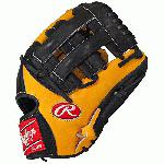 Rawlings Heart of the Hide Baseball Glove 11.75 inch PRO1175-6GTB (Right Handed Throw) : The Heart of the Hide players baseball glove series features the game-day patterns of the Rawlings Advisory staff. Available in select Heart of the Hide models, these high quality gloves have defined the careers of those deemed The Finest in the Field, and are now available to elite athletes looking to join the next class of defensive greats. World renowned Heart of the Hide leather for unmatched durability Crafted from authentic Rawlings Pro Patterns Produced by the worlds finest glove technicians Soft full grain leather palm and fingerback linings provide exemplary comfort USA-tanned leather lacing for durability 11.75 Infield Pattern Pro H Web Conventional Back.
