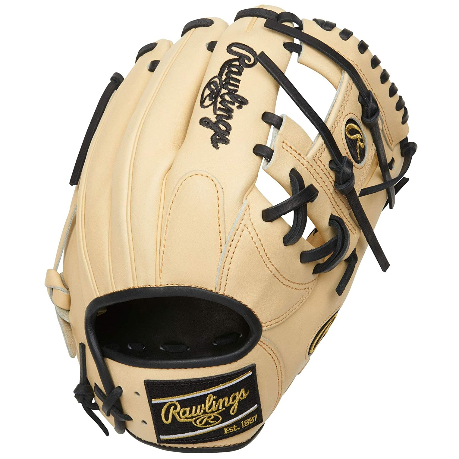 rawlings-heart-of-the-hide-baseball-glove-camel-black-i-web-11-5-inch-right-hand-throw PRONP4-2CB-RightHandThrow   The 2021 Heart of the Hide 11.5-inch I-web glove is constructed