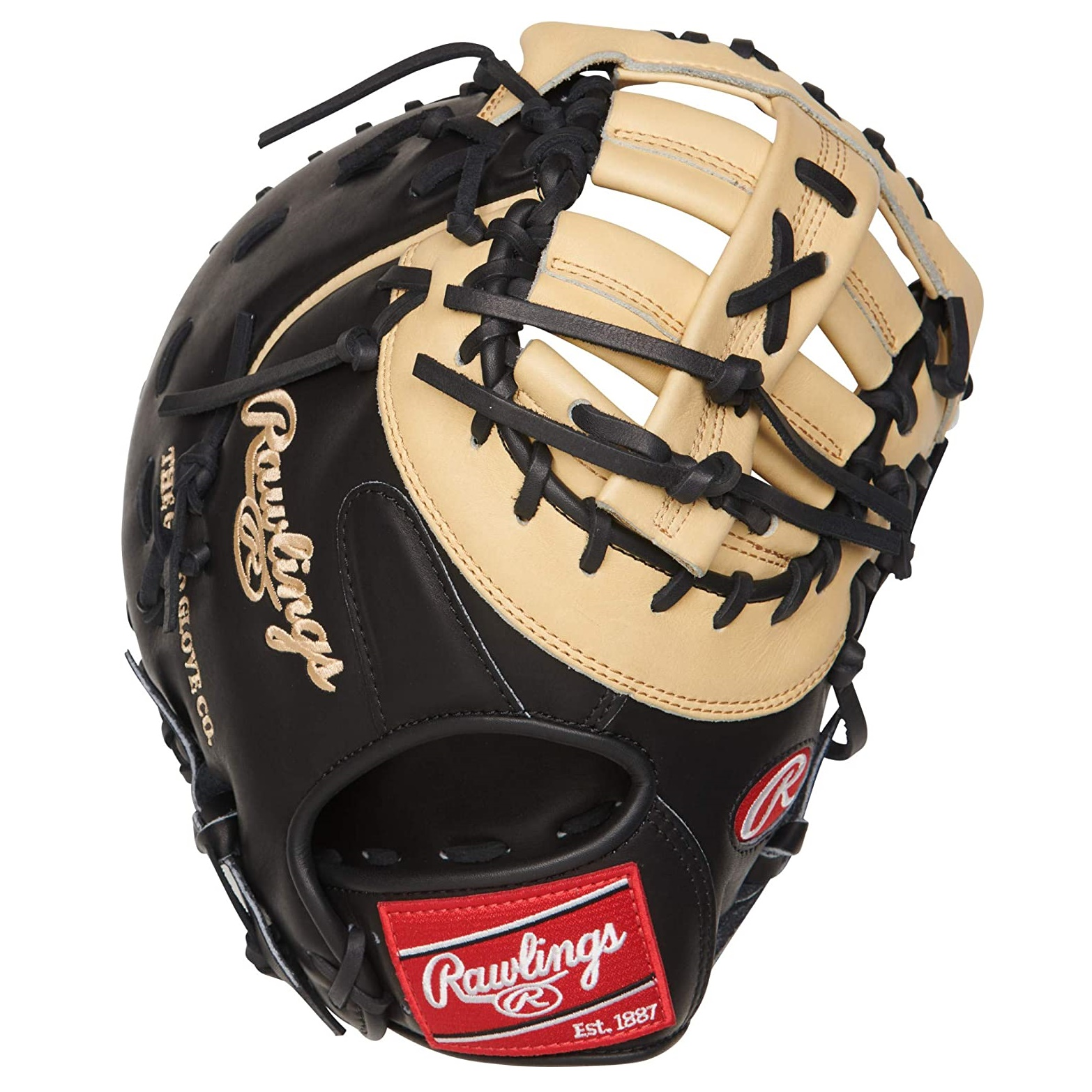 rawlings-heart-of-the-hide-first-base-baseball-glove-camel-black-13-inch-right-hand-throw PRODCTCB-RightHandThrow   The Rawlings 13-inch Heart of the Hide first base glove is