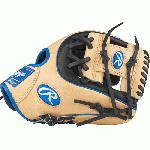 Pro I™ web is typically used in middle infielder gloves Infield glove 60% player break-in Recommended for adult or elite player Conventional back features a wide opening above the wrist Authentic Pro patterns Tennessee Tanning pro lace Deer-tanned cowhide lining Heart of the Hide traditional leather shell