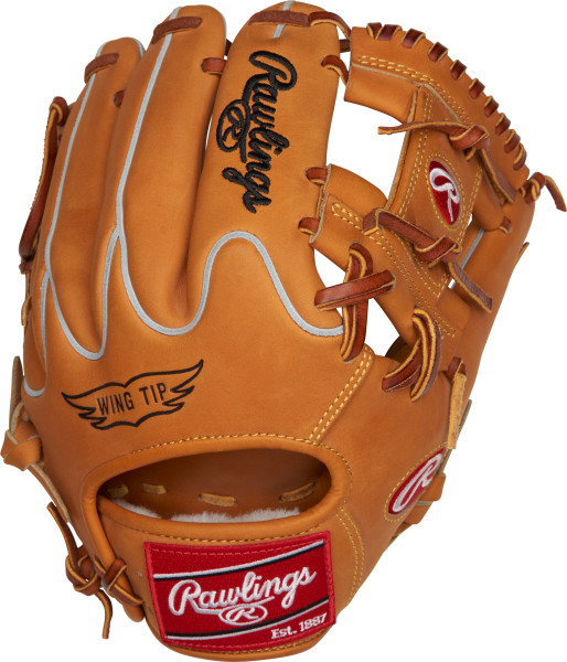 """rawlings-heart-of-the-hide-pro204w-2ht-baseball-glove-11-5-inch-right-hand-throw PRO204W-2HT-RightHandThrow Rawlings 083321434464 1 11 ½"""" 2 Horween® Tan back 3 Pro I™ web"""