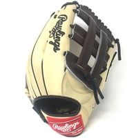pRawlings Heart of the Hide 12.75 inch baseball glove. H Web. Open Back. Camel with chocolate brown web, black laces./p