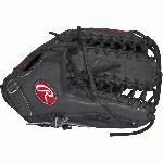 This Heart of the Hide baseball glove from Rawlings features the Trap-Eze Web pattern, which is referred to as the six finger glove. The web is part of the glove, not separate from it, allowing for maximum strength. With its 12 3/4 pattern, deep pocket, and open web, this pattern is the most popular glove among outfielders. Worn by countless Rawlings Gold Glove Award winners since 1958, the traditional Heart of the Hide series sets the standard. With premium steer hide leather, the best pro patterns and highest quality craftsmanship in the world, the HOH series and it's new colorways provide elite players with the pro-style glove they need to make their work in the field. Details Age: Adult Brand: Rawlings Map: Yes Sport: Baseball Type: Baseball Size: 12.75 in Color: Dark Shadow Hand: Right Back: Fastback Player Break-In: 70 Fit: Pro Level: Adult Lining: Deer-Tanned Cowhide Padding: Moldable Pattern: Pro Position: Outfield Series: Heart of the Hide Shell: Steer Hide Leather Type: Baseball Web: Trap-Eze