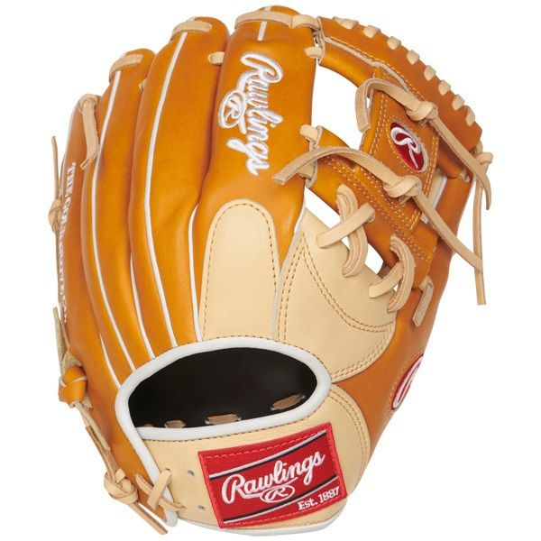 """Constructed from Rawlings' world-renowned Heart of the Hide steer hide leather, Heart of the Hide gloves feature the game-day patterns of the top Rawlings Advisory Staff players. These high quality gloves have defined the careers of those deemed """"The Finest in the Field,"""" and are now available to elite athletes looking to join the next class of defensive greats Details Age: Adult Brand: Rawlings Map: Yes Sport: Baseball Type: Baseball Size: 11.5 in Hand: Right Back: Conventional Player Break-In: 70 Level: Adult Lining: Deer-Tanned Cowhide Padding: Moldable Pattern: Pro Position: Infield Series: Heart of the Hide Shell: Steer Hide Leather Type: Baseball Web: Pro I"""