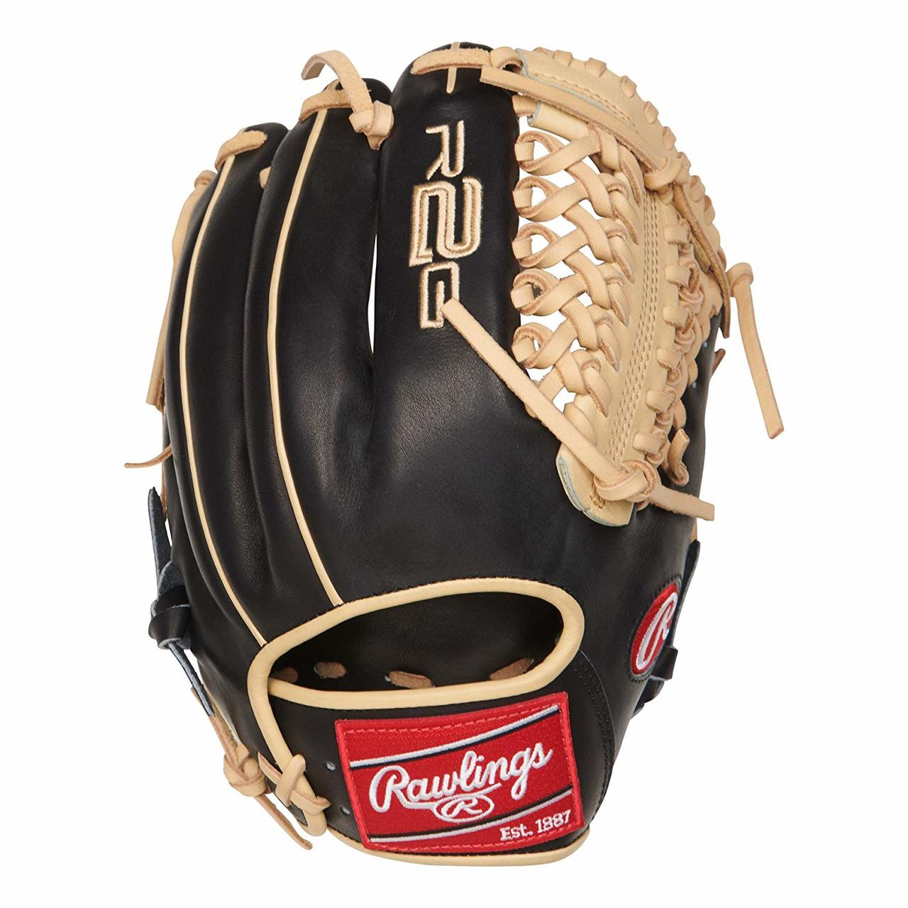 rawlings-heart-of-the-hide-r2g-11-75-inch-pror205-4bc-baseball-glove-right-hand-throw PROR205-4BC-RightHandThrow Rawlings 083321526602 11.75 Inch Model Modified Trap-Eze Web Narrow Fit Pattern Ideal For